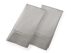 800TC 100% Cotton Pillowcases-S/2-Silver-King