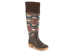 MUK LUKS ® Rainey Southwest Rain Boot, Brown