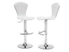Homelegance White Vinyl Stool S/2
