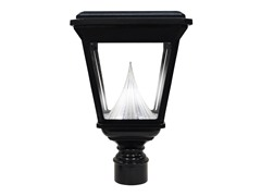 "Flat Top LED Lantern, 3"" Fitter, Black"