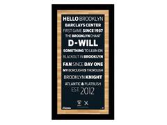 """Brooklyn Nets 9.5"""" x 19"""" w/Game-Used Net"""