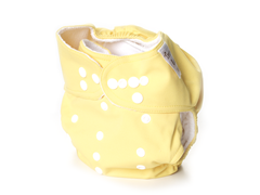 Adjustable Cloth Diaper - Yellow