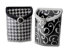Accessory Bin 2pk - Blk/Wht Houndstooth