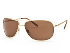 Gold/Brown Aviator 22 Sunglasses