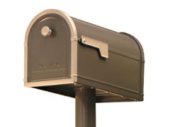 Fairfield Post Mount Mailbox, Bronze