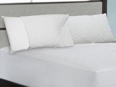 Tailor Fit Quilted Memory Foam Zipper Pillow Enhancer - 2Pk - 2 Sizes