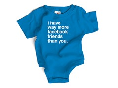 "Wrybaby ""Facebook"" Blue Bodysuit"