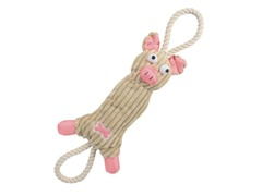 Pet Life Jute Rope Dog Toy - Pink