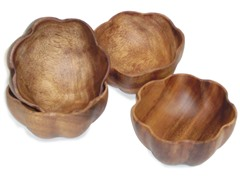 Acaciaware Small Flared Bowls 4pc