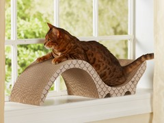 Catalina Cardboard Cat Scratcher - Taupe