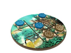 WWF Turtle Wood Tic Tac Toe Game