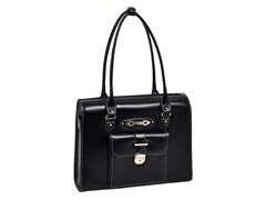 River Forest Leather Ladies' Briefcase - Black