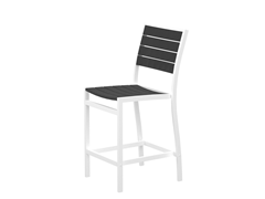 Euro Counter Chair, White/Slate Grey