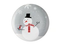 """Little Hoot & Snowman 8"""" Salad - Set 4"""