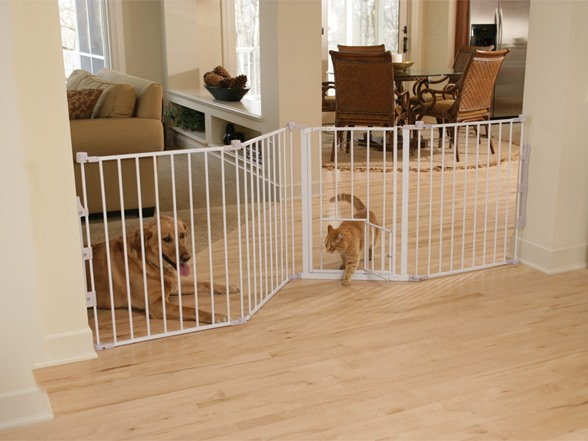 Configurable Extra Wide Pet Gate Beige