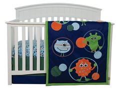 Snuggle Monster Crib Bedding Set- 3 Piece