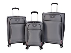 Sharper Image Index 3-Pc Softside Luggage Set - Silver