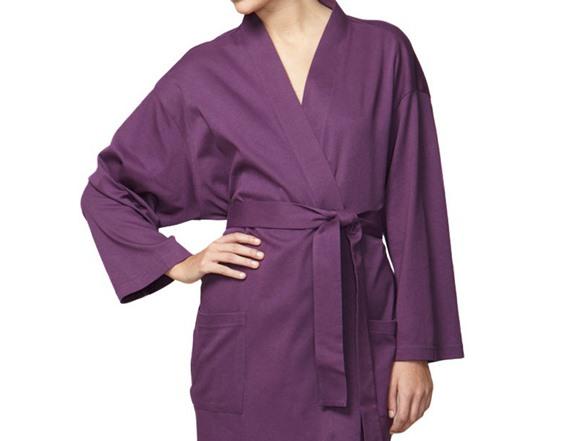 e03f8da2cd Organic Cotton Jersey Knit Robe - Purple