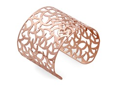 Adjustable 18 kt Rose Gold Plated Bangle