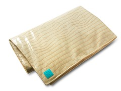 "50""x 45"" Faux Leather Blonde Play Mat"