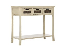 Autumn 3 Drawer Console - White