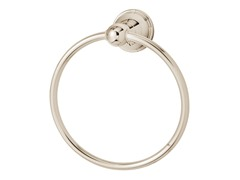 Alexandria Towel Ring, Polished Nickel