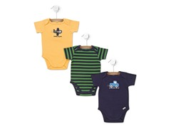 Auto 3-Pk Short-Sleeve Bodysuits (0-9M)