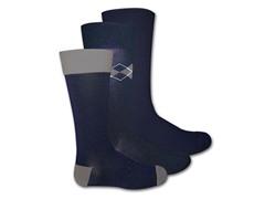 Muk Luks Men's 3 Pair Pack Crew Socks, Blue