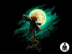 Haunted Scarecrow Jersey Zip Hoodie