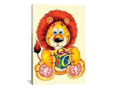 Little Lion Holding a Square