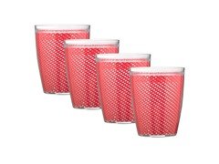 Kraftware 14oz Doublewall Drinkware 4pc 4 Colors