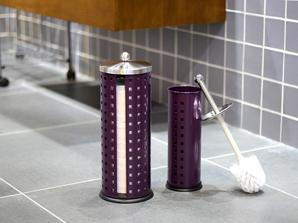 Toliet Brush w/Hold&Toilet Roll Purple