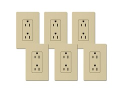 15-Amp Receptacle 6-Pack, Ivory
