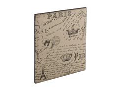 SEI Vintage Burlap Message Board - Paris Postcard