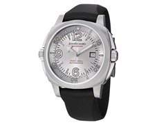 Men's Bressel Automatic Silver Dial Black Rubber