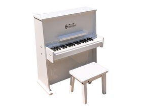 37-Key Upright Piano with Bench- White