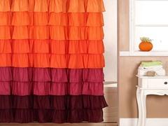 Harvest Ruffle Shower Curtain