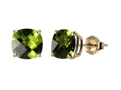 10K YG Stud Earrings, Peridot