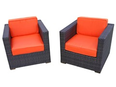 Bellagio Armchairs, Orange