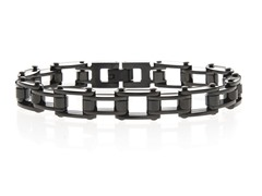 Black Steel Bicycle Link Bracecet
