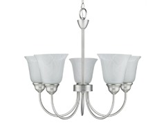 Satin Nickel 5-Light Chandelier
