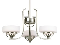 3-Light Chandelier, Nickel