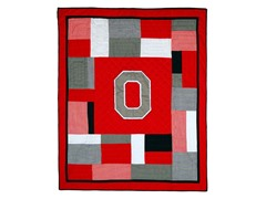 Ohio State University Quilted Throw