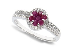 Ruby & White Topaz Ring