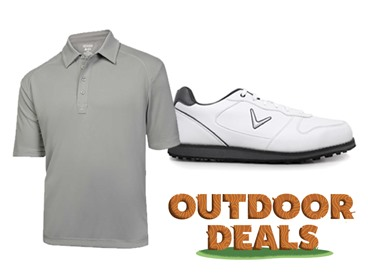 Apparel and Shoes for Golfing Outdoors