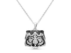 B&W Diamond Tiger Necklace