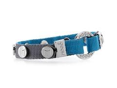 Charm Bracelet - Gray w/ Blue
