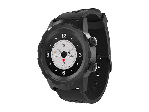 "Image of 3plus ""cruz"" Hybrid Smart Watch - Black"