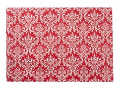 Small Damask Placemat S/4-Red
