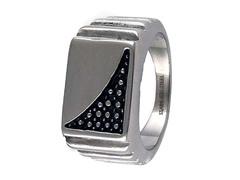SS Fancy Diamond Cut Ring